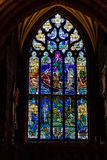 Stained glass in a church window Stock Images