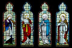 Stained glass church window Royalty Free Stock Photos