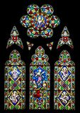 Stained glass church window Stock Photography