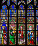 Stained glass in church Stock Photo