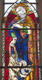 Stained glass church window at Palencia cathedra Stock Photography