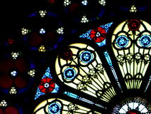 Stained glass in church. Window of Providence, Rhode Island, USA Royalty Free Stock Photo