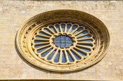 Stained-glass church window in Reus Stock Photos