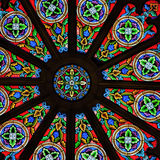 Stained Glass Church Window in Santa Fe, New Mexico Royalty Free Stock Photos