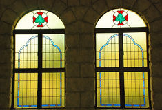Stained glass church windows   Stock Photos