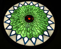 Stained Glass Circle Window Stock Image