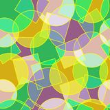 Stained glass circles and squares abstract seamless pattern Royalty Free Stock Images