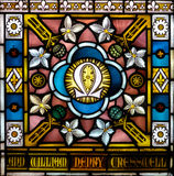 Stained Glass close up I in Church of the Holy Cross Stock Images