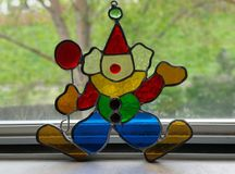 Stained glass clown Stock Image