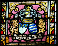 Stained Glass - Coat of Arms Royalty Free Stock Photography