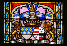 Stained Glass - Coat of Arms Royalty Free Stock Image