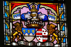Stained Glass - Coat of Arms Royalty Free Stock Photo