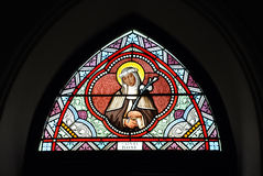 Stained Glass Color Saint Rose Royalty Free Stock Photo