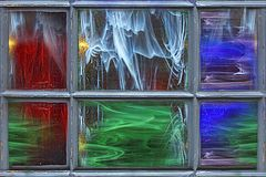 Stained glass colorful background stock photo