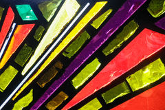 Stained glass colorful window texture. Photograph of a colorful stained glass window texture Royalty Free Stock Photo