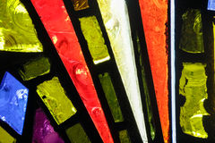 Stained glass colorful window texture. Photograph of a colorful stained glass window texture Stock Photo