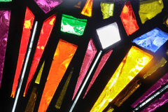 Stained glass colorful window texture. Photograph of a colorful stained glass window texture Royalty Free Stock Images