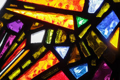 Stained glass colorful window texture. Photograph of a colorful stained glass window texture Royalty Free Stock Photography