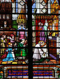 Stained glass: communion Royalty Free Stock Photography