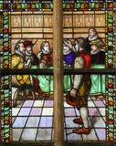 Stained Glass of the Conquest of Den Briel Stock Photos