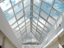 Stained-glass conservatory. Foto of light stained-glass conservatory royalty free stock photo