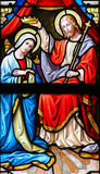 Stained Glass - Coronation of the Virgin Stock Photo