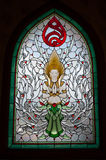 Stained glass. And craft patterns from Buddhism Royalty Free Stock Images