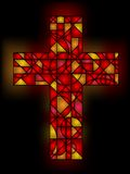 Stained glass cross Stock Photography