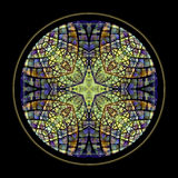 Stained glass cross window Stock Image