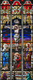 Stained Glass - Crucifixion of Jesus Royalty Free Stock Photo