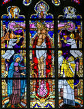 Stained Glass - The Crucifixion of Jesus Royalty Free Stock Image