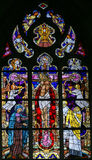 Stained Glass - The Crucifixion of Jesus Stock Images