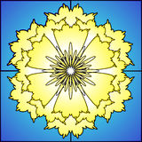 Stained glass daffodil Royalty Free Stock Images