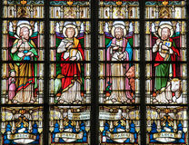 Stained Glass depicting the Four Evangelists Stock Photography