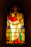 Stained glass depicting Jesus Christ Royalty Free Stock Photos