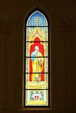 Stained glass depicting St. Peter Stock Photos