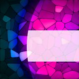 Stained glass design template. EPS 8 Stock Images