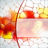 Stained glass design template. EPS 8 Stock Photo