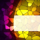 Stained glass design template. EPS 8 Royalty Free Stock Image