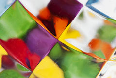 Stained glass. Detail of vibrant stained glass Royalty Free Stock Photography