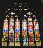 Stained Glass Dom Cathedral. Stained Glass window in the World Heritage site, the Dom Cathedral Koln, Cologne, Germany Stock Photos
