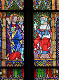 Stained Glass in Dom of Cologne, Germany Royalty Free Stock Image