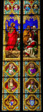Stained Glass in Dom of Cologne Royalty Free Stock Image