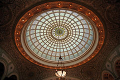 Stained glass dome. Tiffany stained glass dome in Chicago Cultural Center Royalty Free Stock Images
