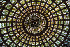 Stained glass dome Royalty Free Stock Photo