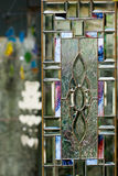 Stained glass door Royalty Free Stock Photos