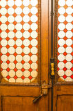 Stained-glass door Stock Photo