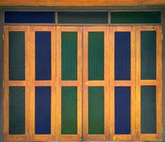 Stained glass door stock photos