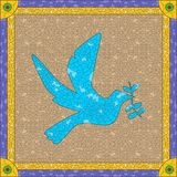 Stained glass dove Stock Photography