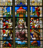 Stained Glass - Ecce royalty free stock photography